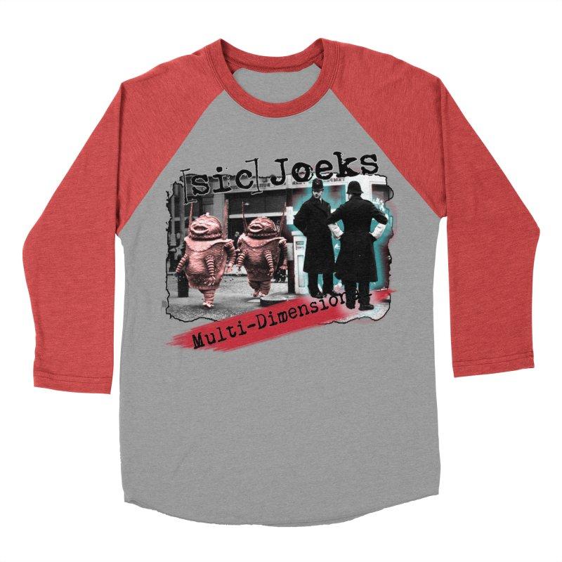 [sic] Joeks - Multi-Dimensional (Aliens and Bobbys) Women's Baseball Triblend Longsleeve T-Shirt by BestMarkMiller's Artist Shop