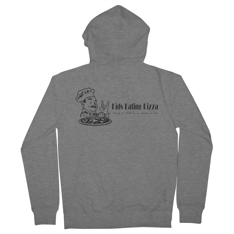 Kids Eating Pizza - Defunct Band Shirt (on lt colors Men's French Terry Zip-Up Hoody by BestMarkMiller's Artist Shop