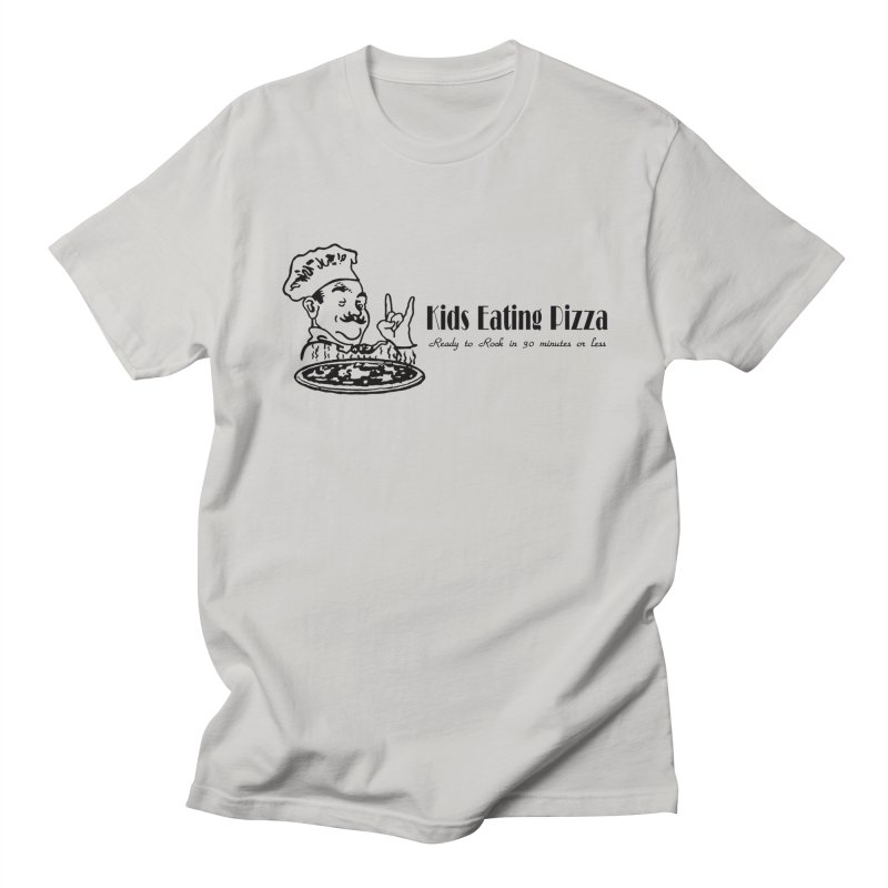 Kids Eating Pizza - Defunct Band Shirt (on lt colors Men's Regular T-Shirt by BestMarkMiller's Artist Shop