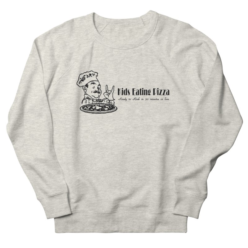Kids Eating Pizza - Defunct Band Shirt (on lt colors Men's French Terry Sweatshirt by BestMarkMiller's Artist Shop