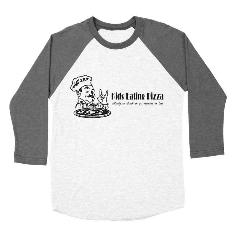 Kids Eating Pizza - Defunct Band Shirt (on lt colors Women's Baseball Triblend Longsleeve T-Shirt by BestMarkMiller's Artist Shop