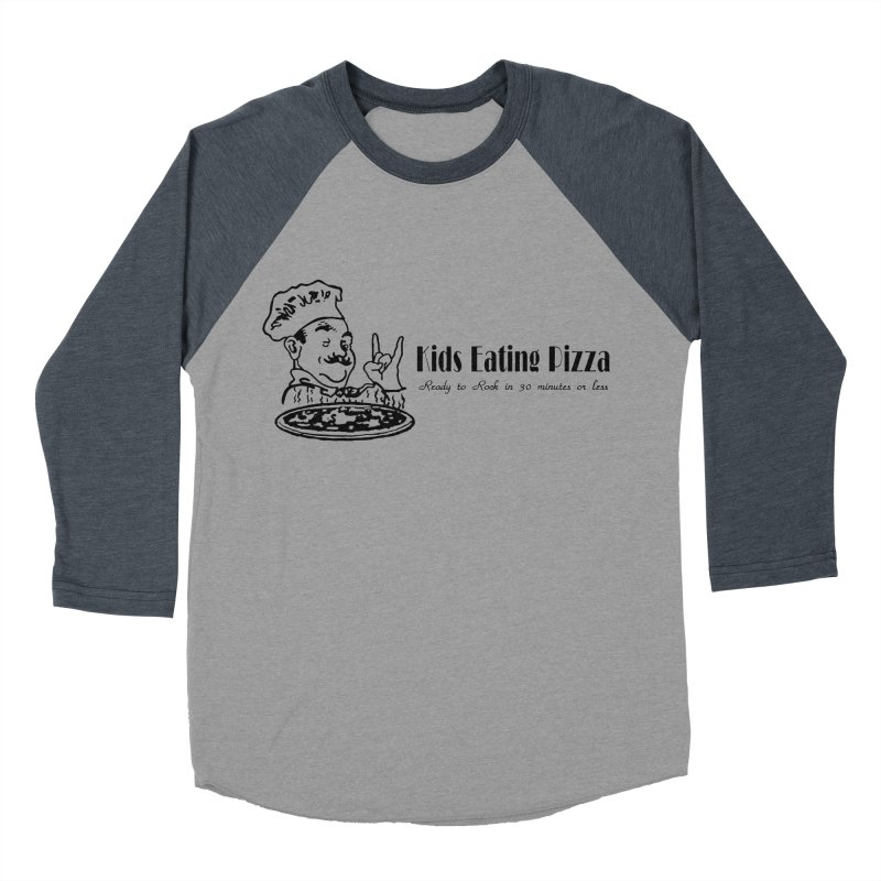 Kids Eating Pizza - Defunct Band Shirt (on lt colors Women's Baseball Triblend Longsleeve T-Shirt by BestMarkMiller's Artist Shop
