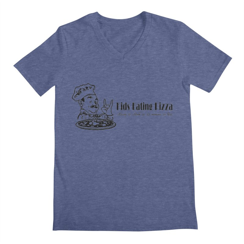 Kids Eating Pizza - Defunct Band Shirt (on lt colors Men's Regular V-Neck by BestMarkMiller's Artist Shop