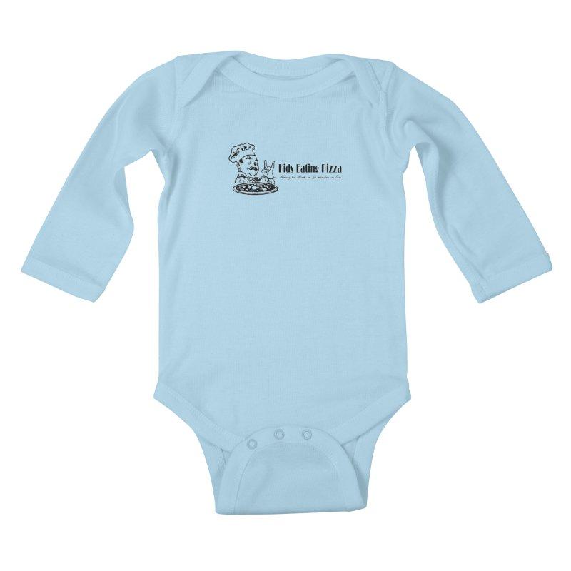 Kids Eating Pizza - Defunct Band Shirt (on lt colors Kids Baby Longsleeve Bodysuit by BestMarkMiller's Artist Shop