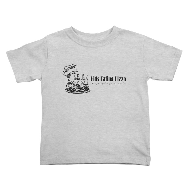 Kids Eating Pizza - Defunct Band Shirt (on lt colors Kids Toddler T-Shirt by BestMarkMiller's Artist Shop