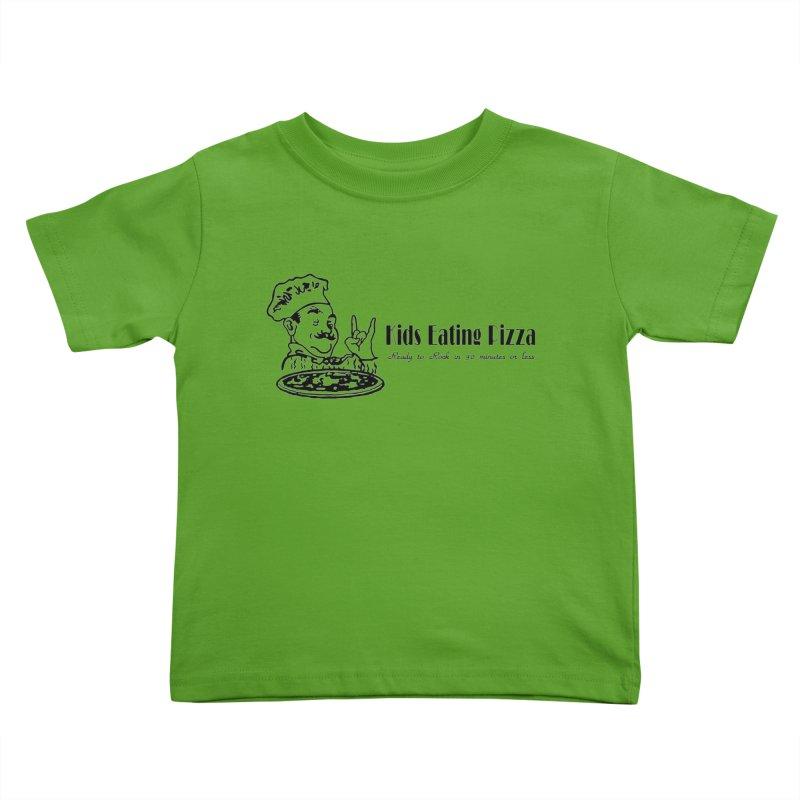 Kids Eating Pizza - Defunct Band Shirt (on lt colors Kids Toddler T-Shirt by BestMarkMiller's Artist Shop