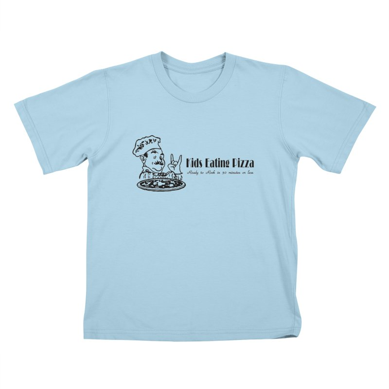 Kids Eating Pizza - Defunct Band Shirt (on lt colors Kids T-Shirt by BestMarkMiller's Artist Shop