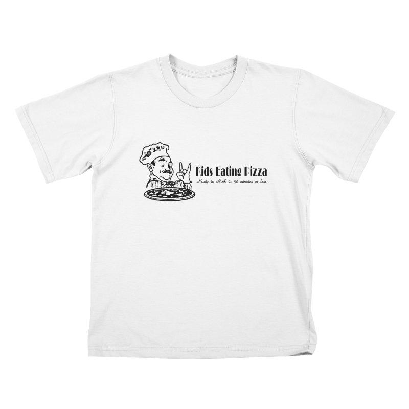 Kids Eating Pizza - Defunct Band Shirt (on lt colors Kids T-Shirt by BestMarkMiller's Artist Shop