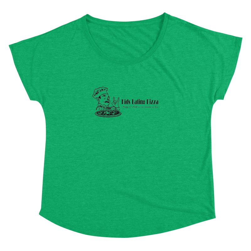 Kids Eating Pizza - Defunct Band Shirt (on lt colors Women's Dolman Scoop Neck by BestMarkMiller's Artist Shop