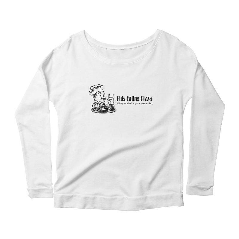 Kids Eating Pizza - Defunct Band Shirt (on lt colors Women's Scoop Neck Longsleeve T-Shirt by BestMarkMiller's Artist Shop