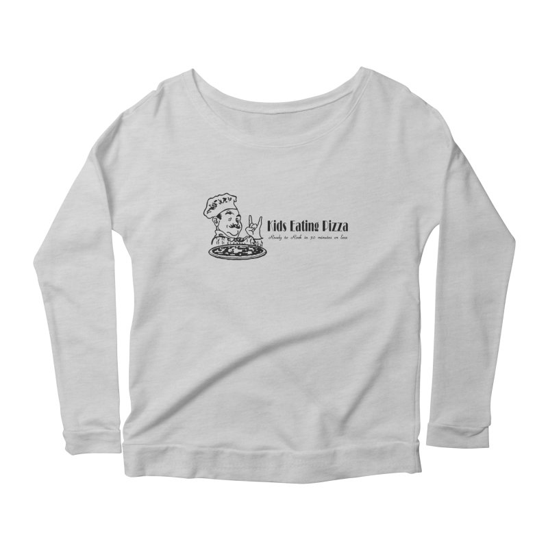 Kids Eating Pizza - Defunct Band Shirt (on lt colors Women's Scoop Neck Longsleeve T-Shirt by BestMarkMiller's Artist Shop