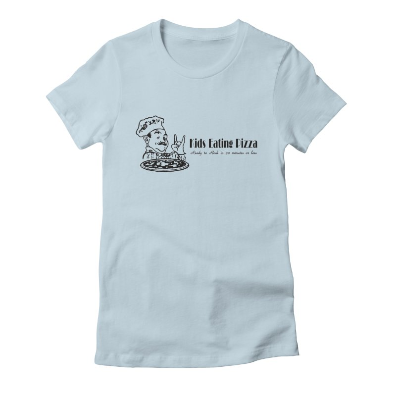 Kids Eating Pizza - Defunct Band Shirt (on lt colors Women's Fitted T-Shirt by BestMarkMiller's Artist Shop