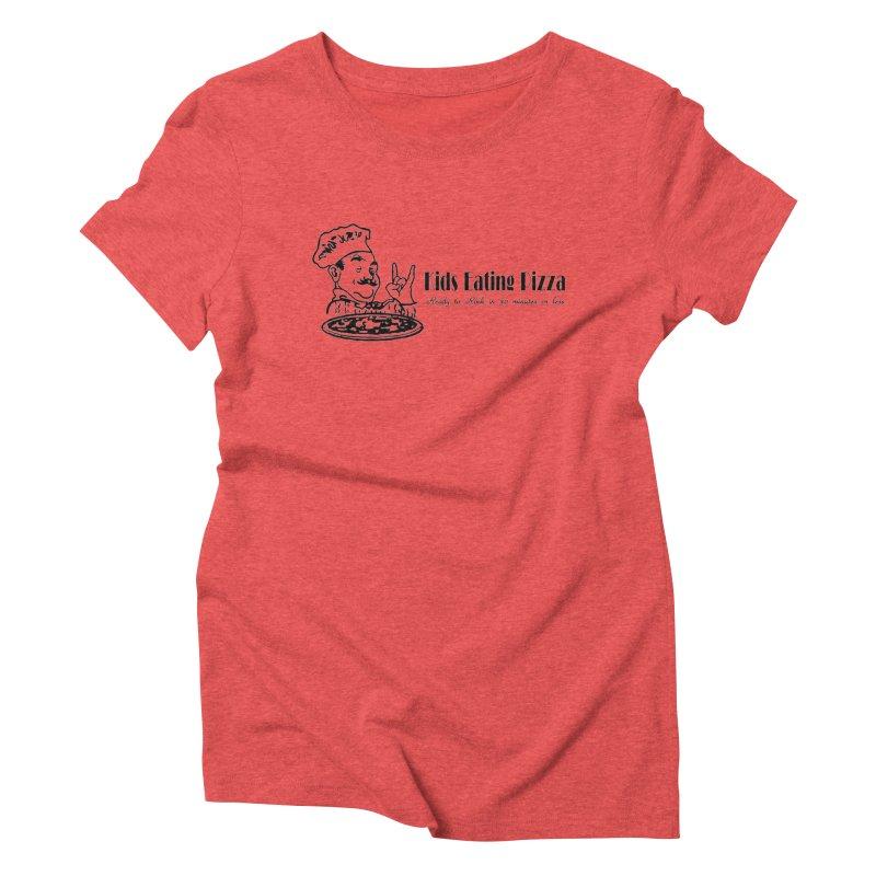 Kids Eating Pizza - Defunct Band Shirt (on lt colors Women's Triblend T-Shirt by BestMarkMiller's Artist Shop
