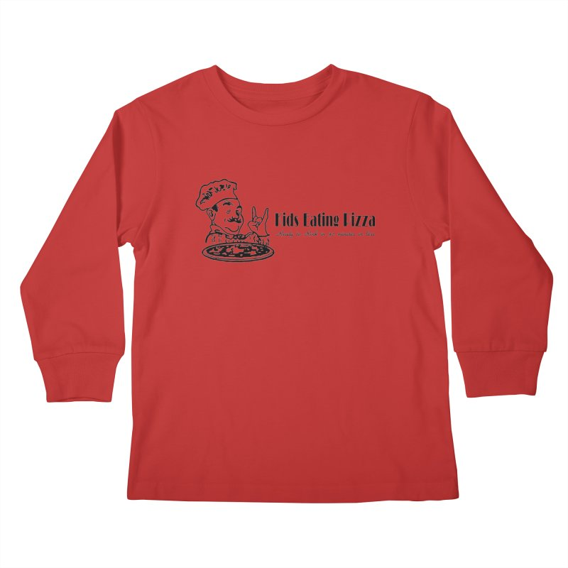 Kids Eating Pizza - Defunct Band Shirt (on lt colors Kids Longsleeve T-Shirt by BestMarkMiller's Artist Shop