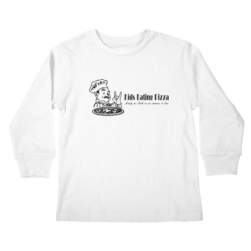 Kids Eating Pizza - Defunct Band Shirt (on lt colors Kids Longsleeve T-Shirt by BestMarkMiller's Artist Shop