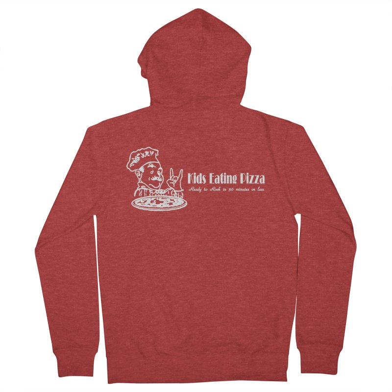 Kids Eating Pizza - Defunct Band Shirt (on drk colors) Women's French Terry Zip-Up Hoody by BestMarkMiller's Artist Shop