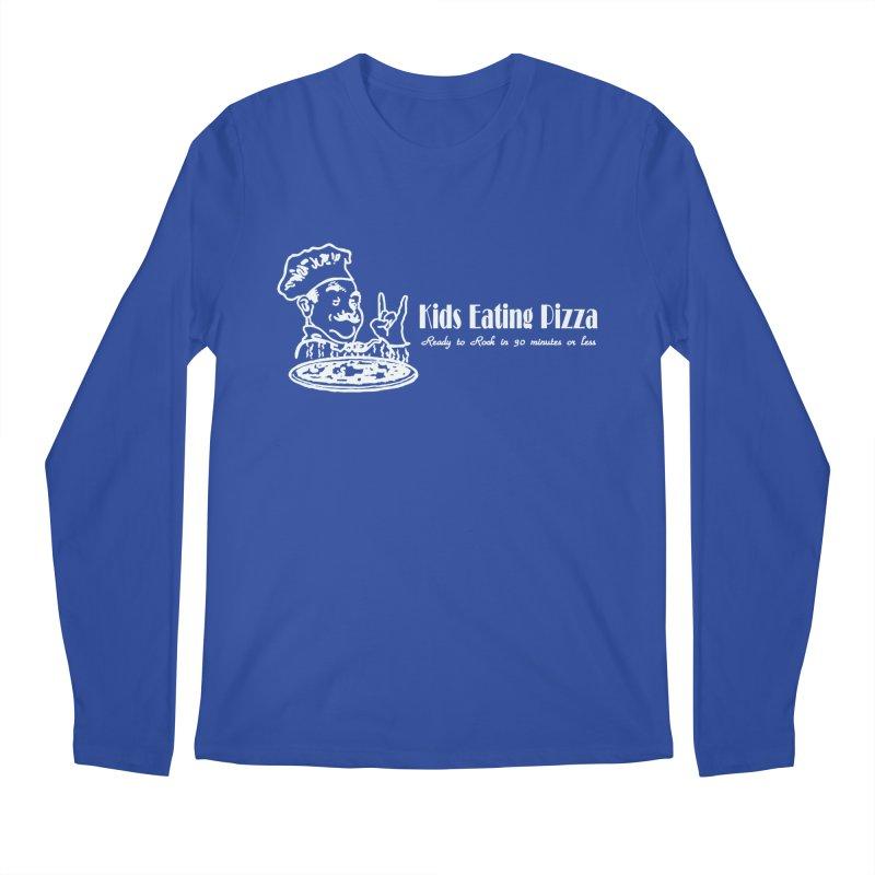 Kids Eating Pizza - Defunct Band Shirt (on drk colors) Men's Regular Longsleeve T-Shirt by BestMarkMiller's Artist Shop