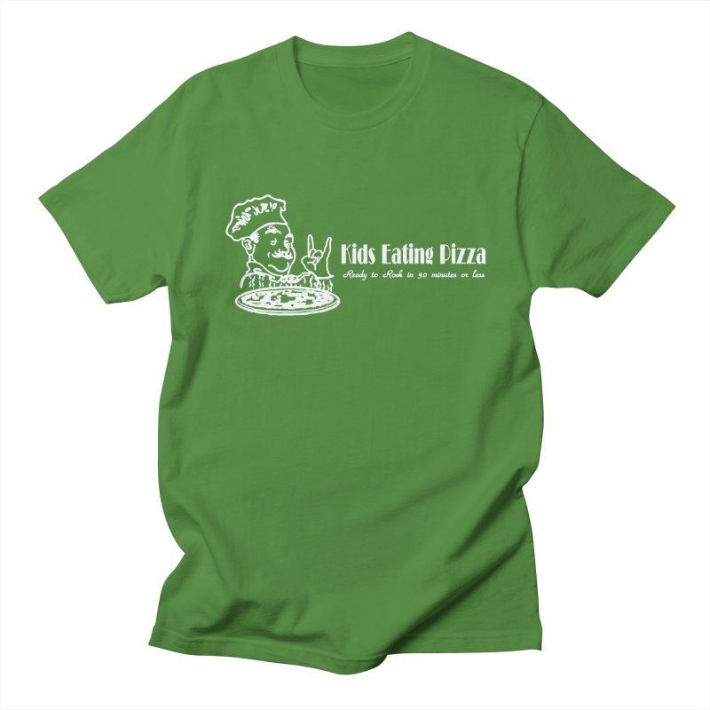 Kids Eating Pizza - Defunct Band Shirt (on drk colors) Men's Regular T-Shirt by BestMarkMiller's Artist Shop