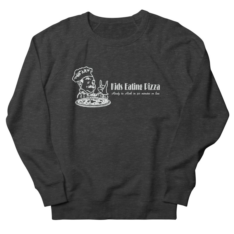 Kids Eating Pizza - Defunct Band Shirt (on drk colors) Men's French Terry Sweatshirt by BestMarkMiller's Artist Shop