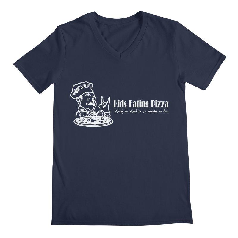 Kids Eating Pizza - Defunct Band Shirt (on drk colors) Men's Regular V-Neck by BestMarkMiller's Artist Shop