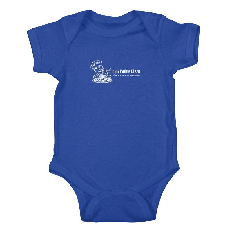 Kids Eating Pizza - Defunct Band Shirt (on drk colors) Kids Baby Bodysuit by BestMarkMiller's Artist Shop