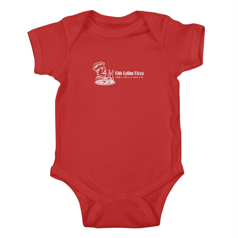 Kids Eating Pizza - Defunct Band Shirt (on drk colors) Kids Baby Bodysuit by BestMarkMiller's Artist Shop
