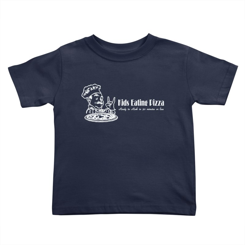 Kids Eating Pizza - Defunct Band Shirt (on drk colors) Kids Toddler T-Shirt by BestMarkMiller's Artist Shop