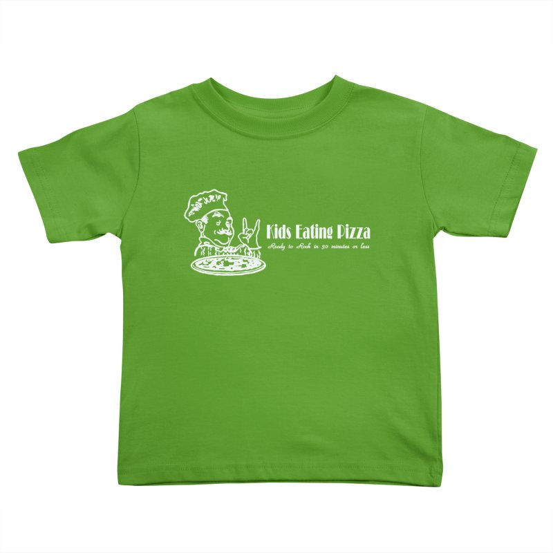 Kids Eating Pizza - Defunct Band Shirt (on drk colors) Kids Toddler T-Shirt by BestMarkMiller's Artist Shop