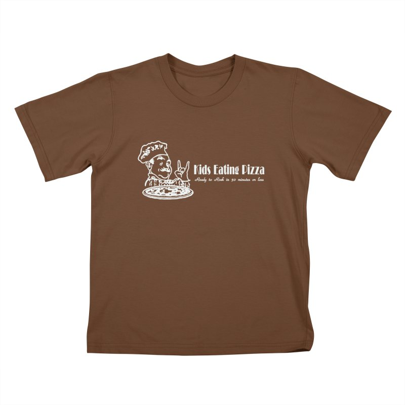 Kids Eating Pizza - Defunct Band Shirt (on drk colors) Kids T-Shirt by BestMarkMiller's Artist Shop
