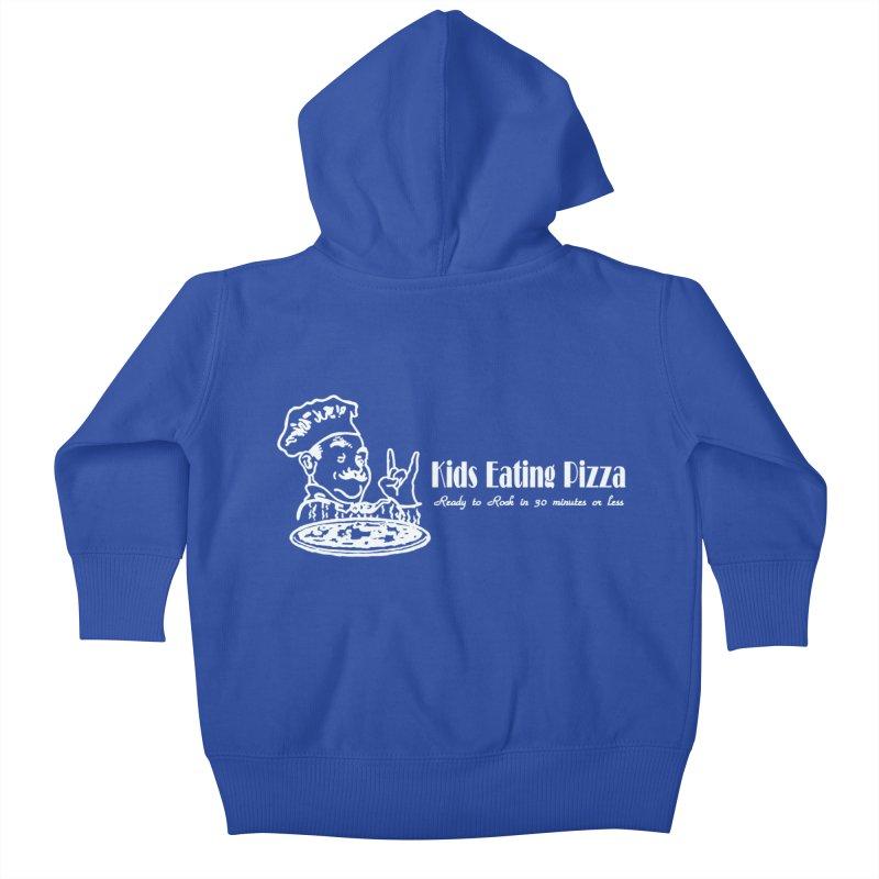Kids Eating Pizza - Defunct Band Shirt (on drk colors) Kids Baby Zip-Up Hoody by BestMarkMiller's Artist Shop