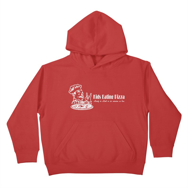 Kids Eating Pizza - Defunct Band Shirt (on drk colors) Kids Pullover Hoody by BestMarkMiller's Artist Shop