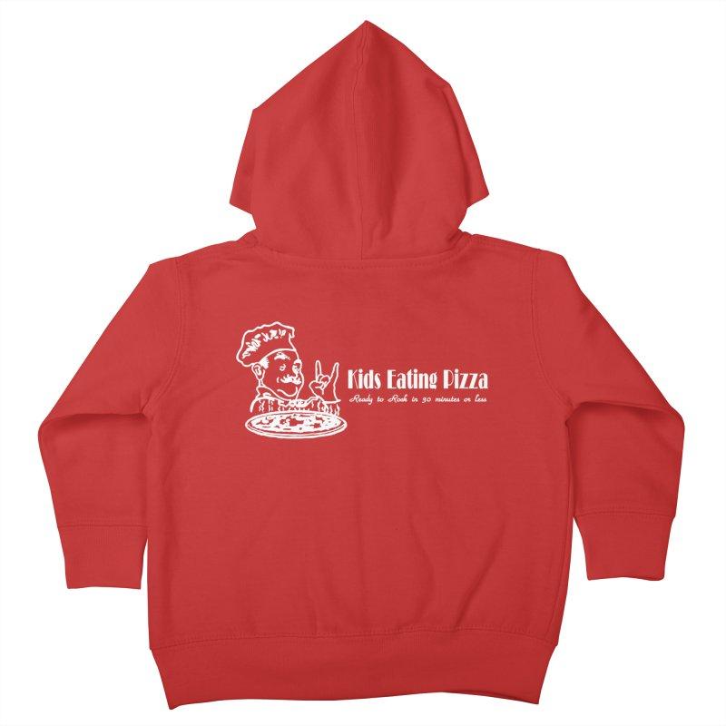 Kids Eating Pizza - Defunct Band Shirt (on drk colors) Kids Toddler Zip-Up Hoody by BestMarkMiller's Artist Shop
