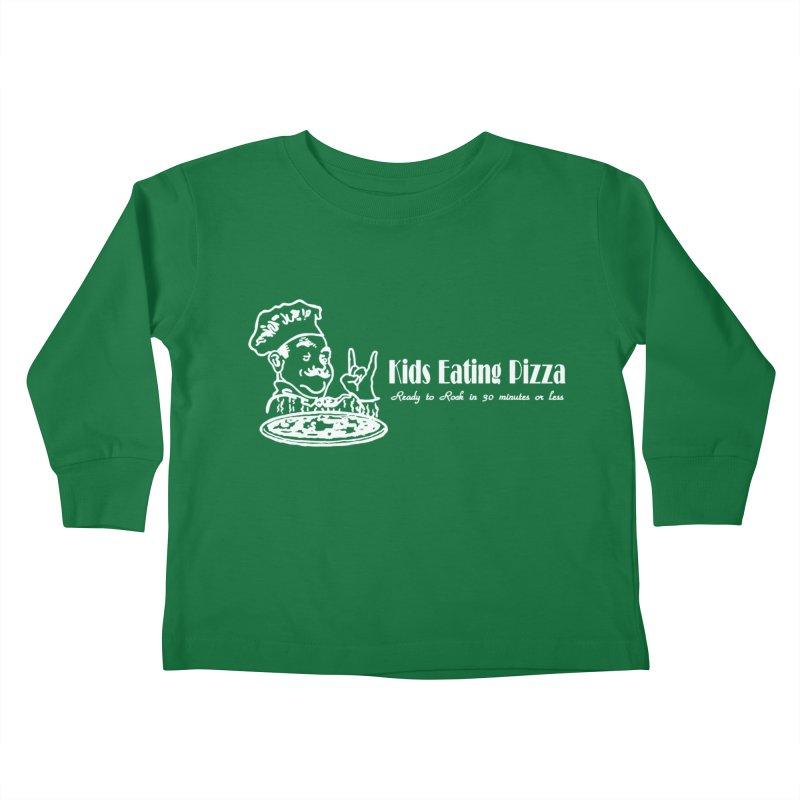 Kids Eating Pizza - Defunct Band Shirt (on drk colors) Kids Toddler Longsleeve T-Shirt by BestMarkMiller's Artist Shop