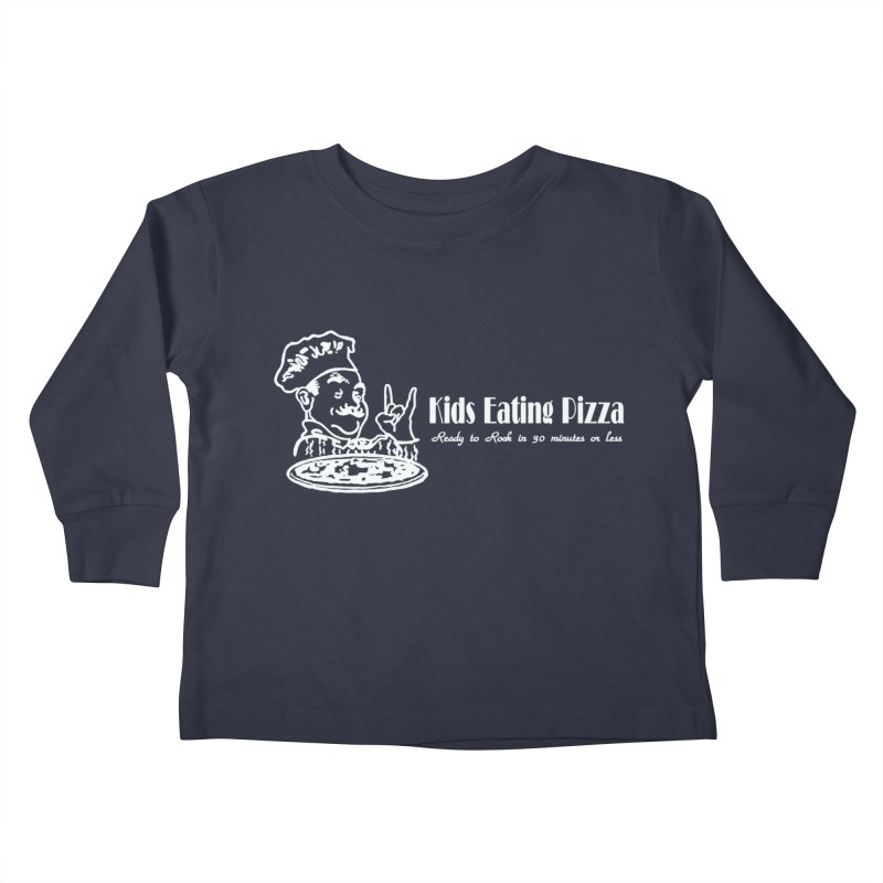 Kids Eating Pizza - Defunct Band Shirt (on drk colors) Kids Toddler Longsleeve T-Shirt by BestMarkMiller's Artist Shop