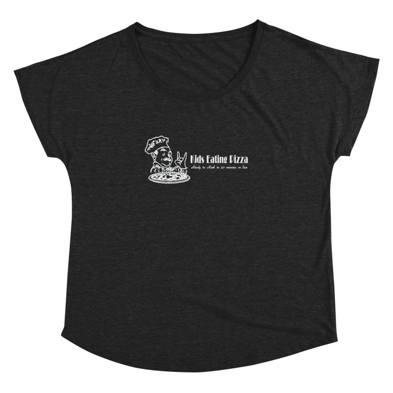 Kids Eating Pizza - Defunct Band Shirt (on drk colors) Women's Dolman Scoop Neck by BestMarkMiller's Artist Shop