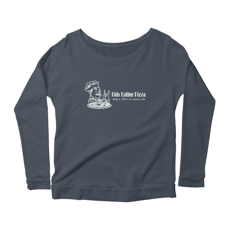 Kids Eating Pizza - Defunct Band Shirt (on drk colors) Women's Scoop Neck Longsleeve T-Shirt by BestMarkMiller's Artist Shop