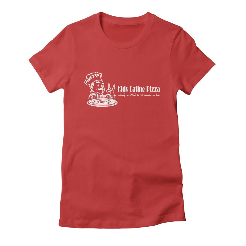 Kids Eating Pizza - Defunct Band Shirt (on drk colors) Women's Fitted T-Shirt by BestMarkMiller's Artist Shop