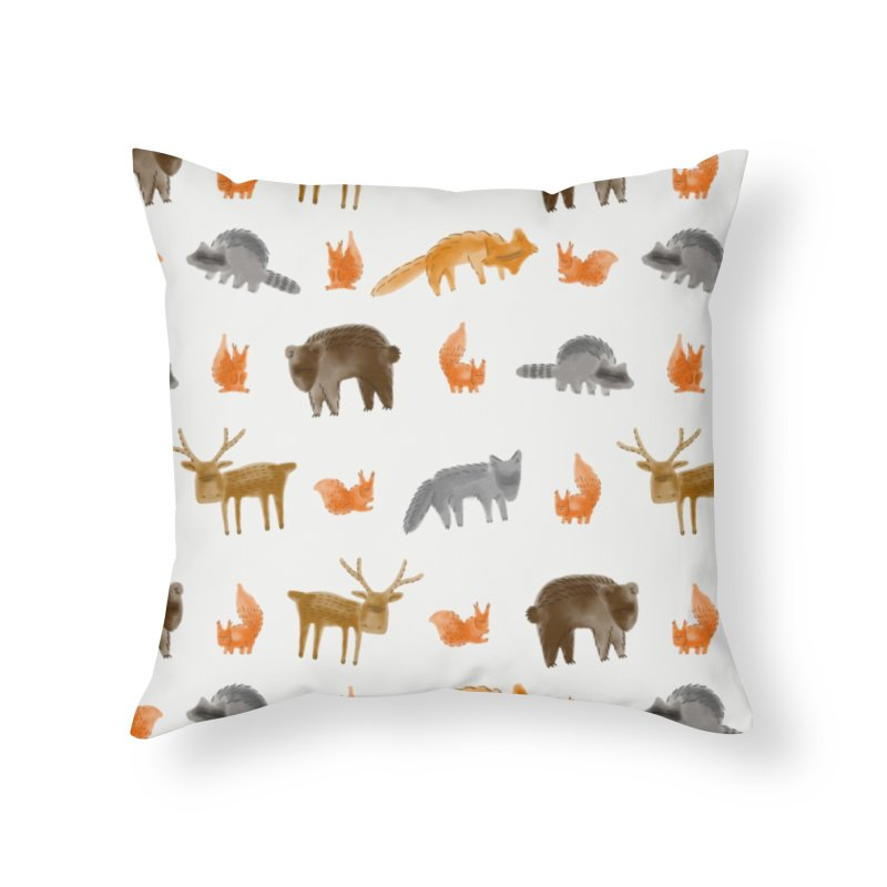 Forest creatures in Throw Pillow by Bezzikapa's Artist Shop