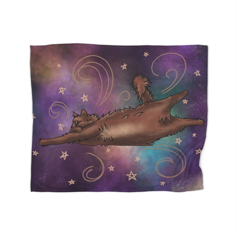 Varežka the Cat Exploring Space in Fleece Blanket Blanket by Bezzikapa's Artist Shop