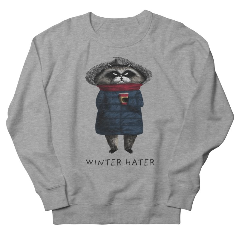Winter Hater in Women's French Terry Sweatshirt Heather Graphite by Bezzikapa's Artist Shop