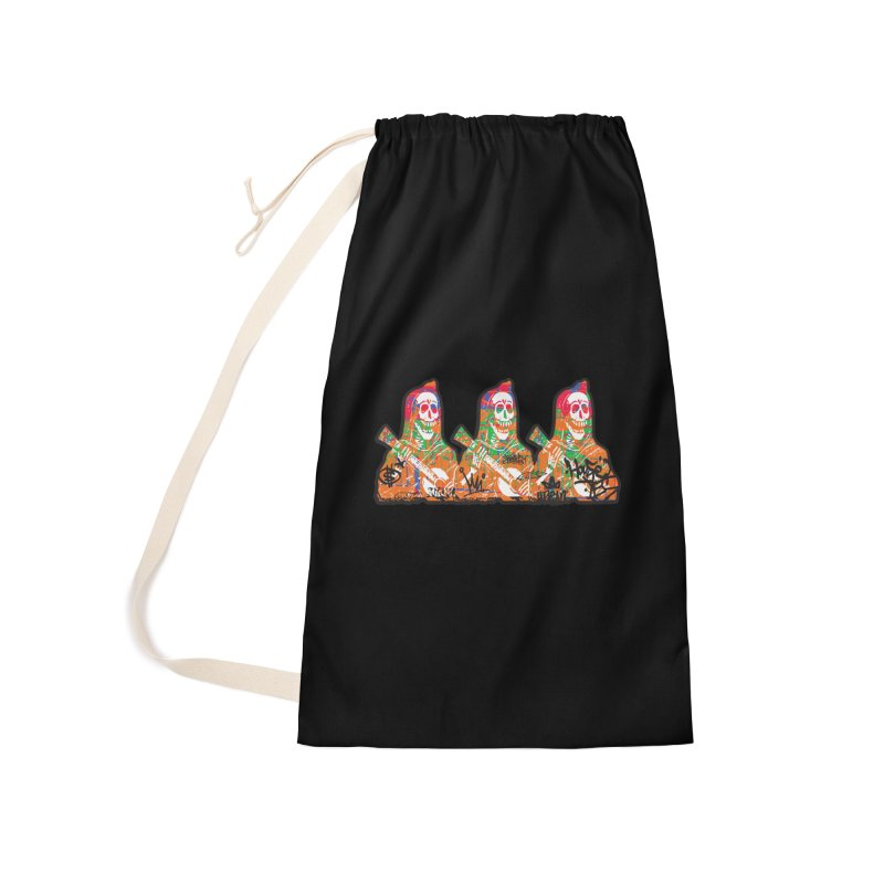 Three Amigos Accessories Laundry Bag Bag by DarkGarden