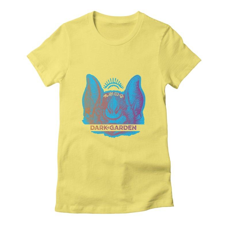 Mystic Bat Women's Fitted T-Shirt by DarkGarden