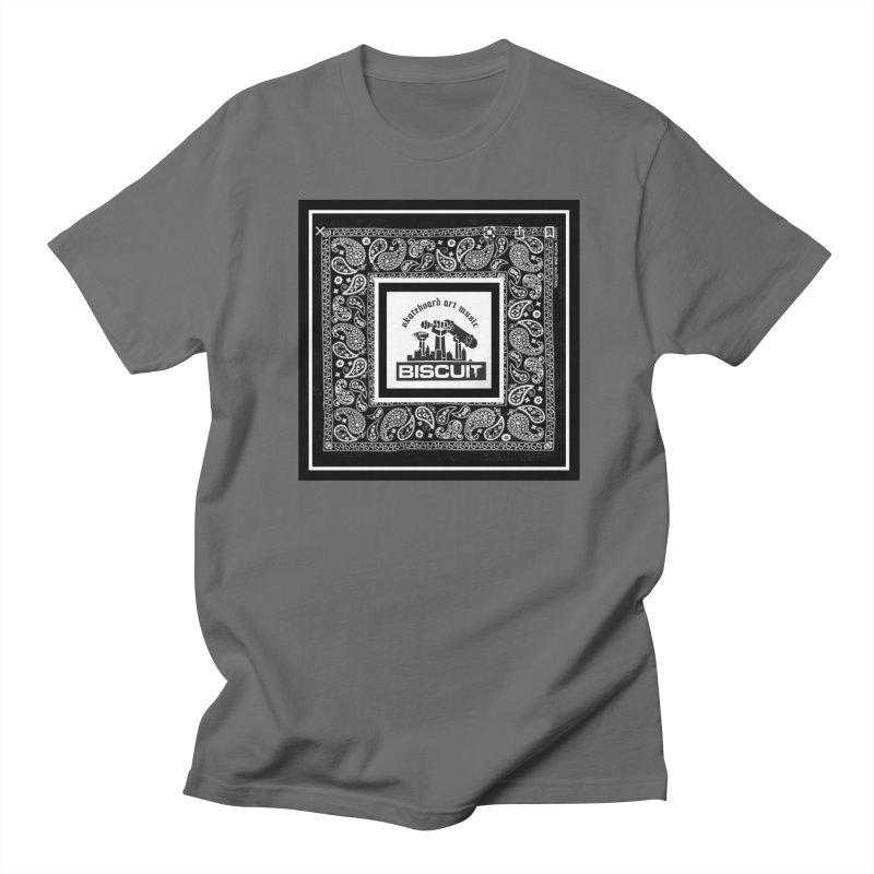 SKATEBOARD ARTE MUSICA Men's T-Shirt by BigBlackBiscuit's Artist Shop