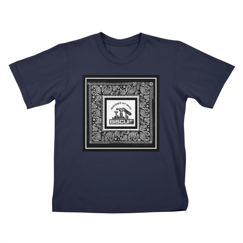 SKATEBOARD ARTE MUSICA Kids T-Shirt by BigBlackBiscuit's Artist Shop