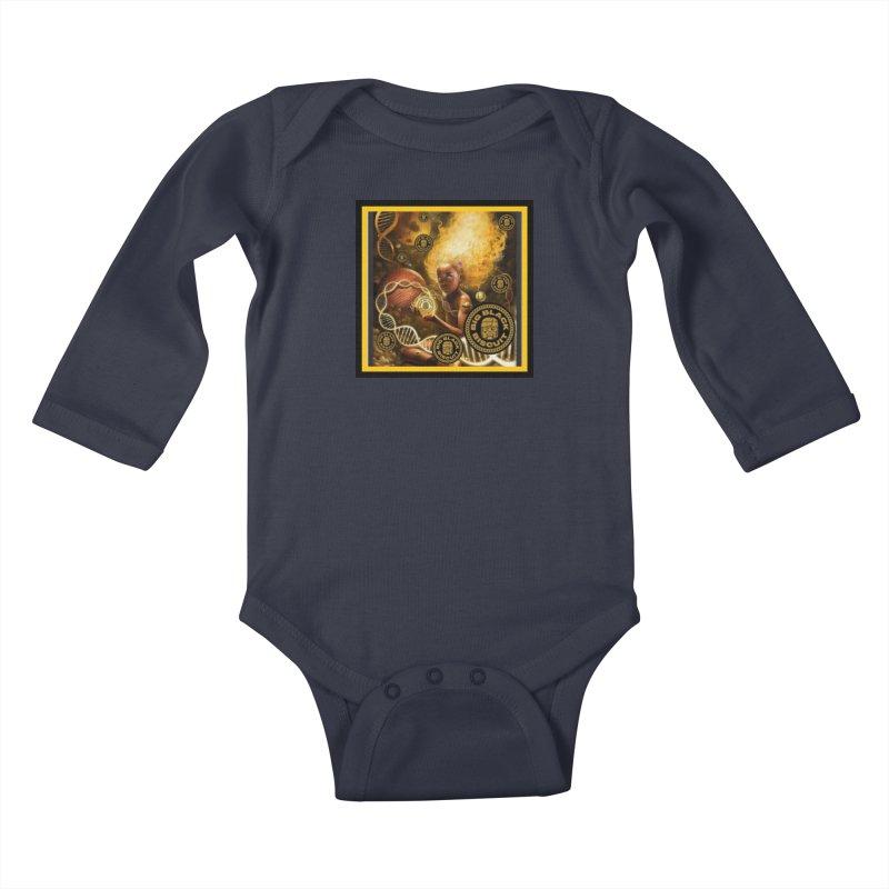 Blonde Brown Baby Kids Baby Longsleeve Bodysuit by BigBlackBiscuit's Artist Shop