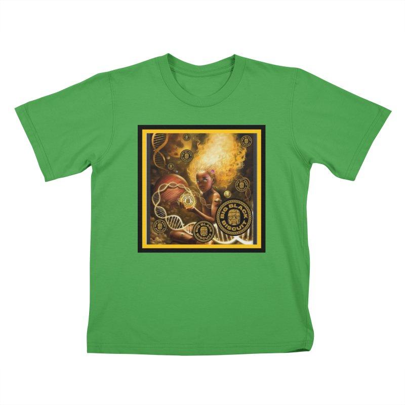 Blonde Brown Baby Kids T-Shirt by BigBlackBiscuit's Artist Shop