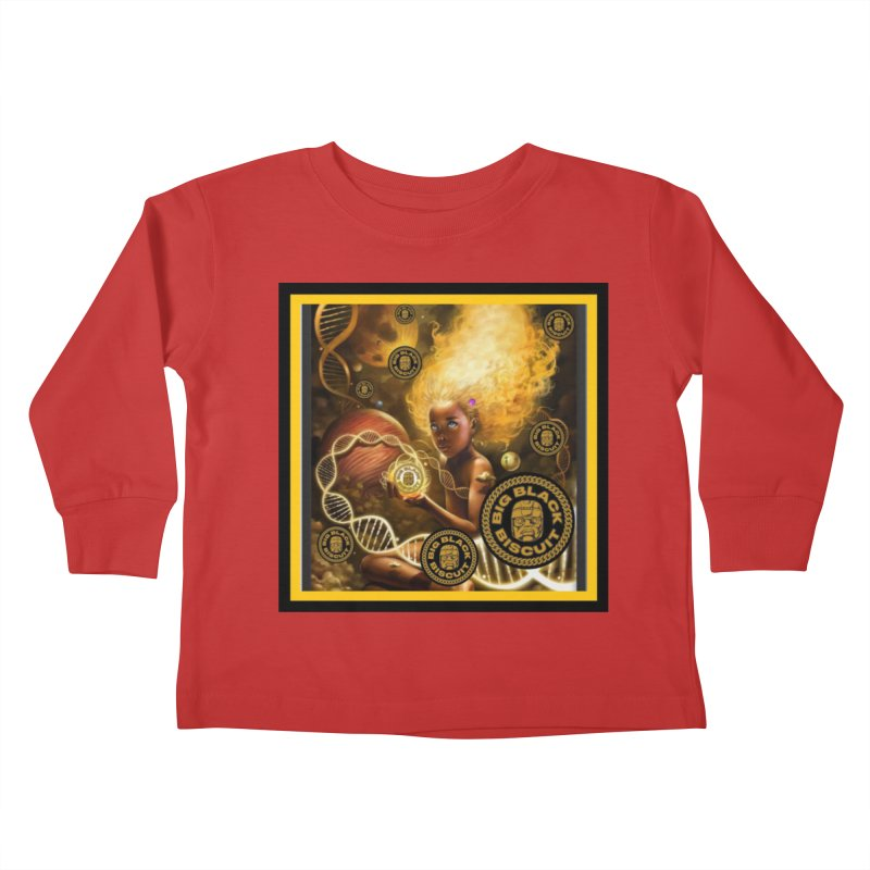 Blonde Brown Baby Kids Toddler Longsleeve T-Shirt by BigBlackBiscuit's Artist Shop