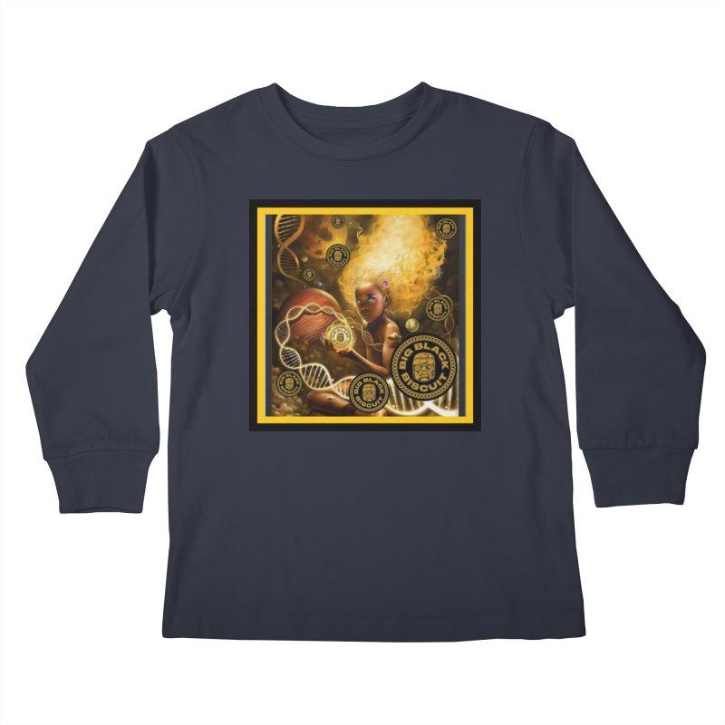 Blonde Brown Baby Kids Longsleeve T-Shirt by BigBlackBiscuit's Artist Shop