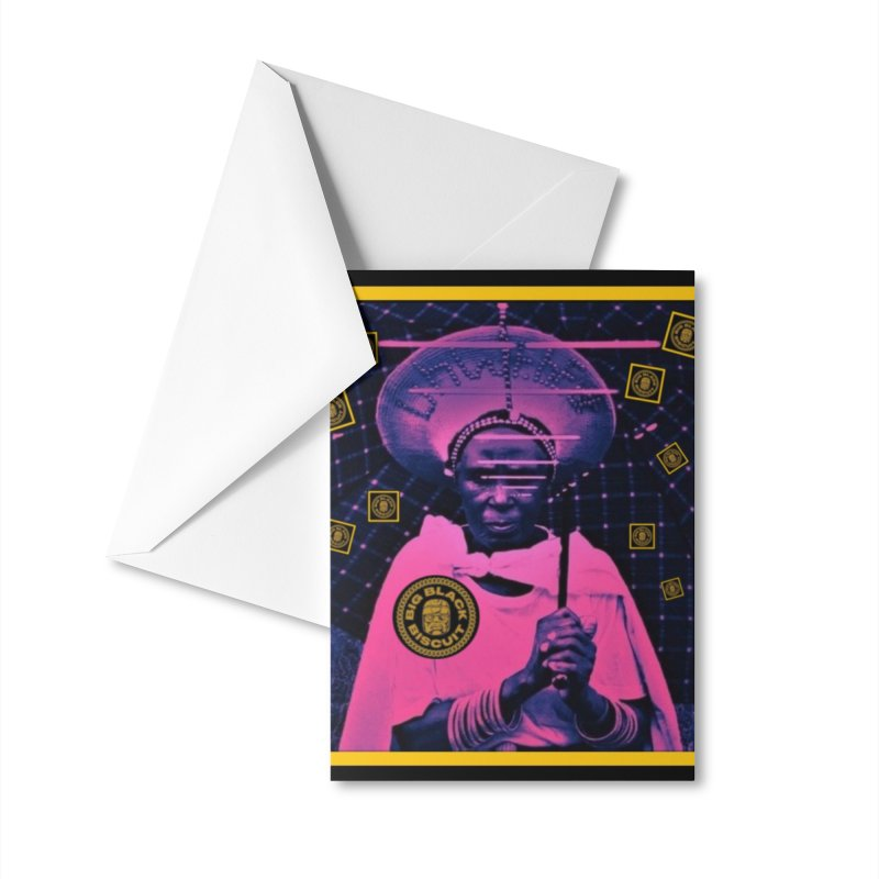 Cosmic Ambiance Accessories Greeting Card by BigBlackBiscuit's Artist Shop