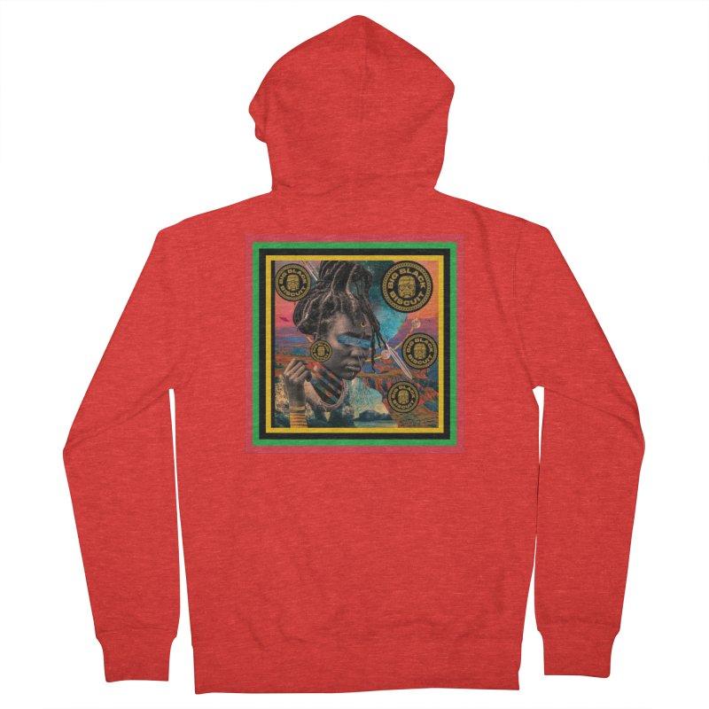 Rasta Queen Men's Zip-Up Hoody by BigBlackBiscuit's Artist Shop